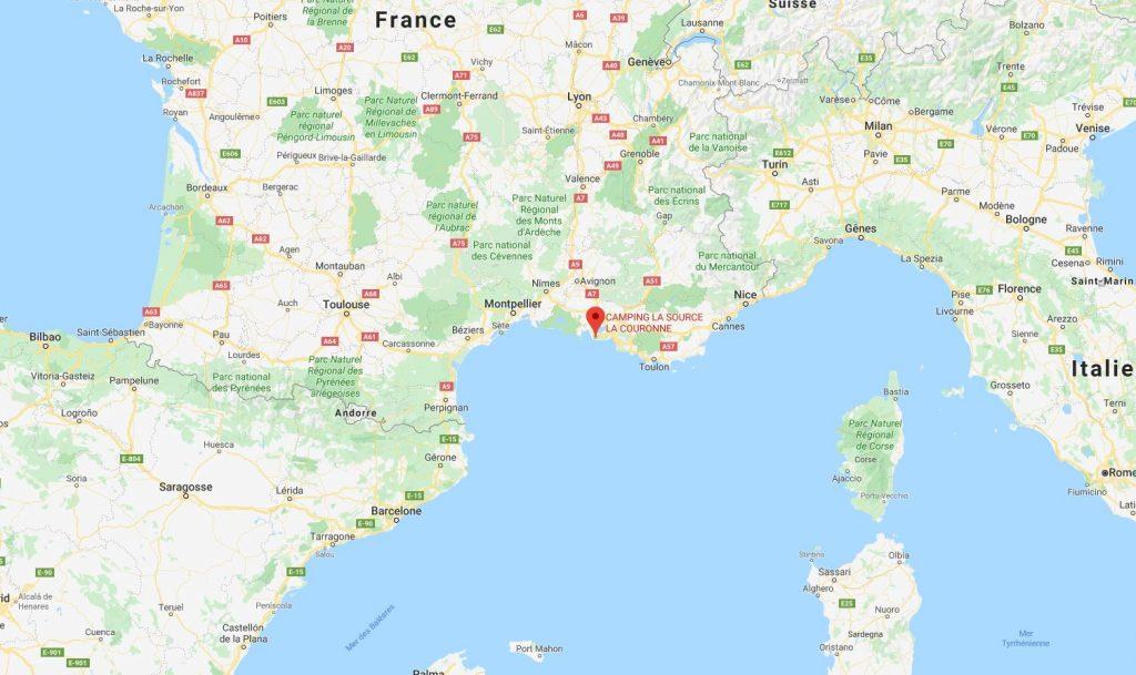 Camping La Source : Map